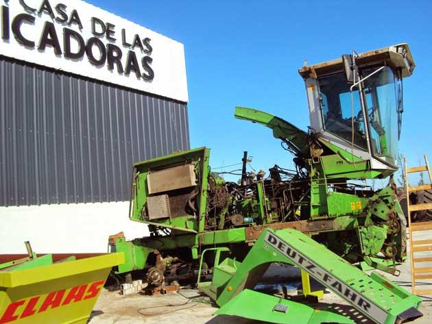 DSC03476 opt CLAAS inició un plan de desguace de picadoras antiguas