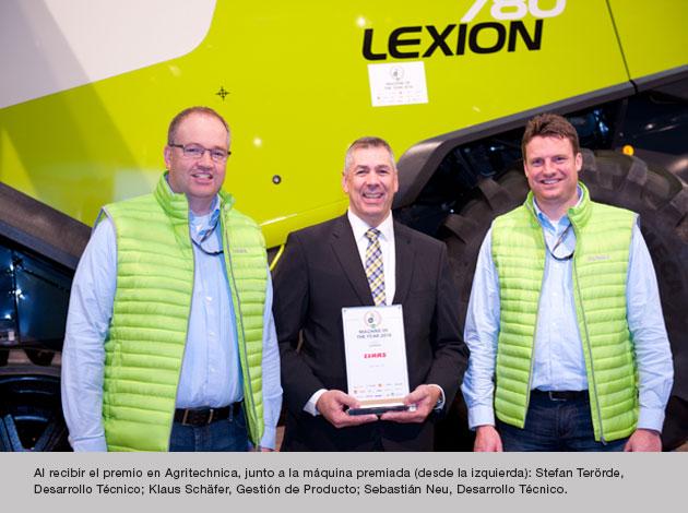 ganadores epig La serie LEXION 700 es la Máquina del año 2016