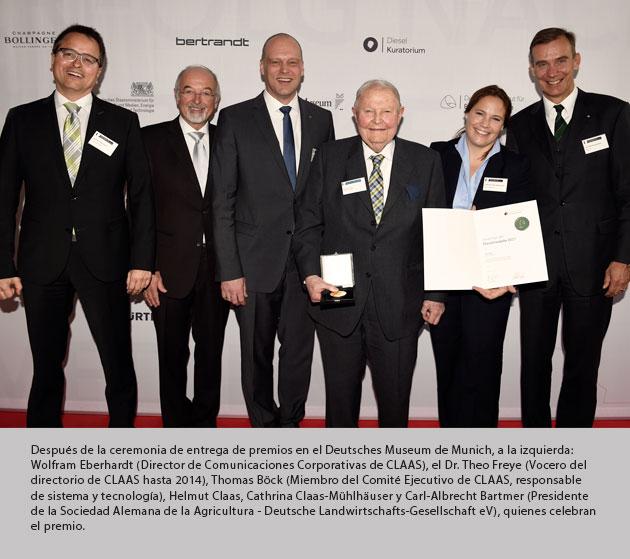helmut premio epig Helmut Claas fue galardonado con la Medalla Diesel